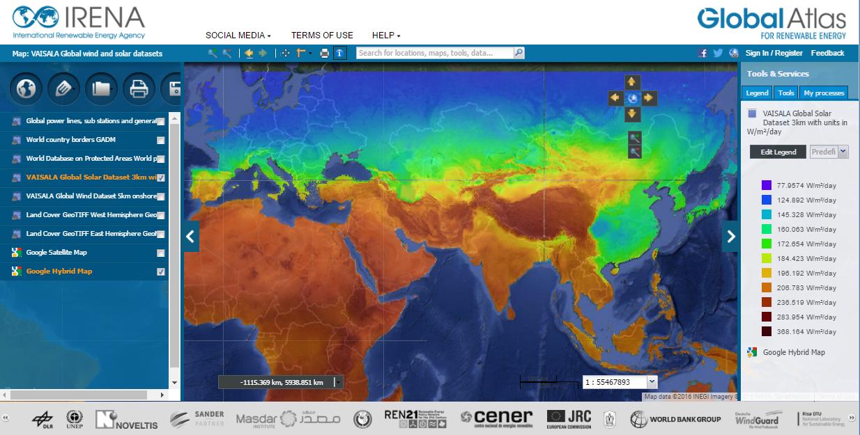 new solar wind maps downloadable on irena global atlas. Black Bedroom Furniture Sets. Home Design Ideas