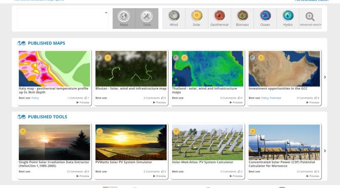 IRENA Global Atlas 3 0: Resource data for renewable energy