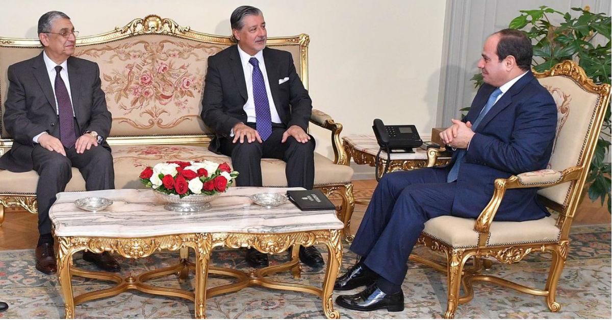 meets president abdel fattah el sisi