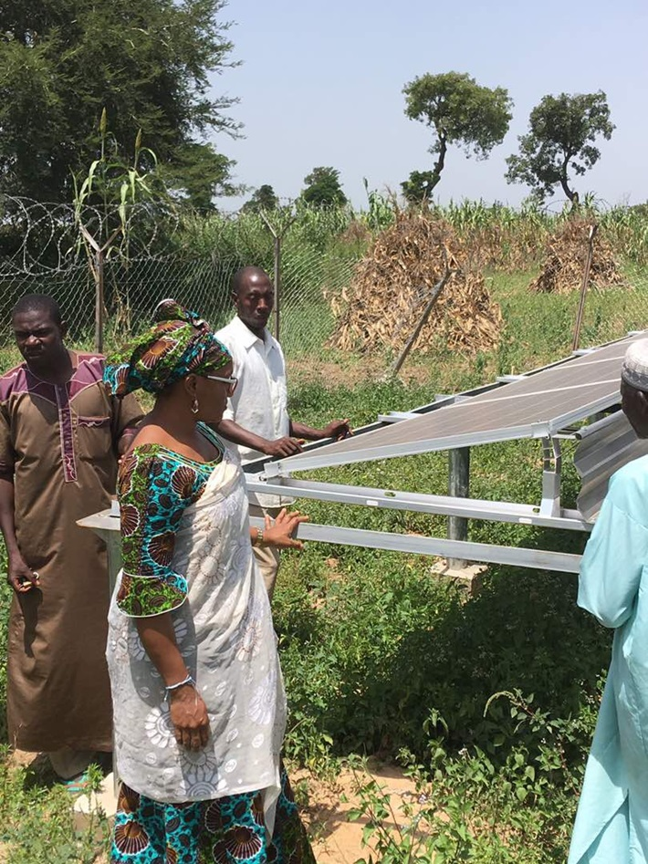 Micro-grid project residents of Kaduna State inspecting a 10kw solar installation.