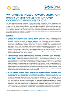 Water Use in India's Power Generation: Impact of renewables and