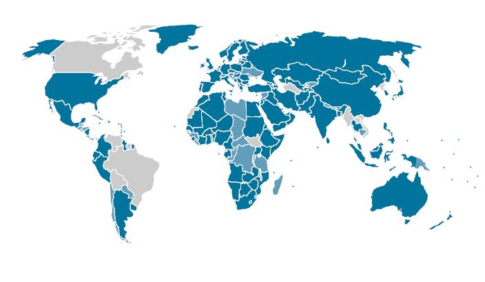 IRENA membership map